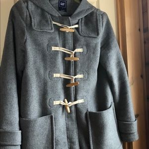 Gray Gap toggle coat.